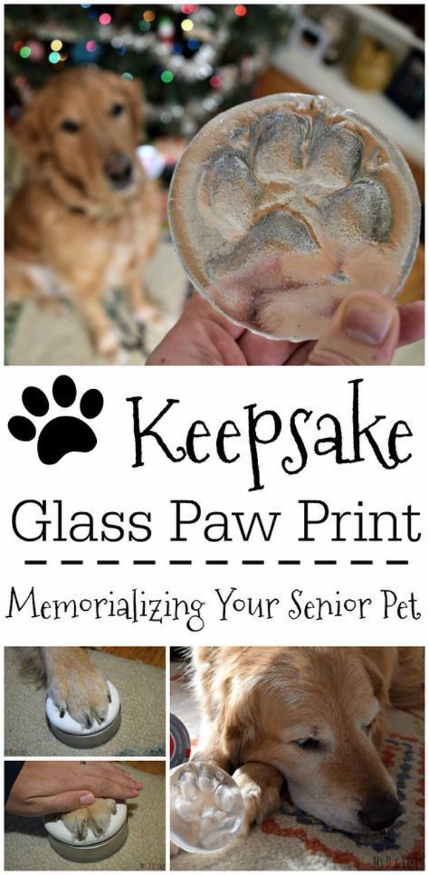 DIY Ideas With Dogs - DIY Paw Print Kit - Cute and Easy DIY Projects for Dog Lovers - Wall and Home Decor Projects, Things To Make and Sell on Etsy - Quick Gifts to Make for Friends Who Have Puppies and Doggies - Homemade No Sew Projects- Fun Jewelry, Cool Clothes and Accessories #dogs #crafts #diyideas