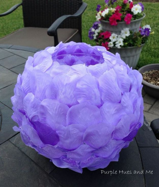 Rose Crafts - DIY Rose Petals Luminary - Easy Craft Projects With Roses - Paper Flowers, Quilt Patterns, DIY Rose Art for Kids - Dried and Real Roses for Wall Art and Do It Yourself Home Decor - Mothers Day Gift Ideas - Fake Rose Arrangements That Look Amazing - Cute Centerrpieces and Crafty DIY Gifts With A Rose http://diyjoy.com/rose-crafts