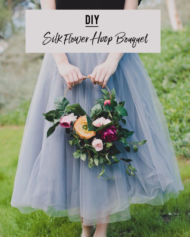 34 flowers you can make for your wedding diy flowers for weddings diy silk flower hoop bouquet centerpieces bouquets arrangements junglespirit Gallery