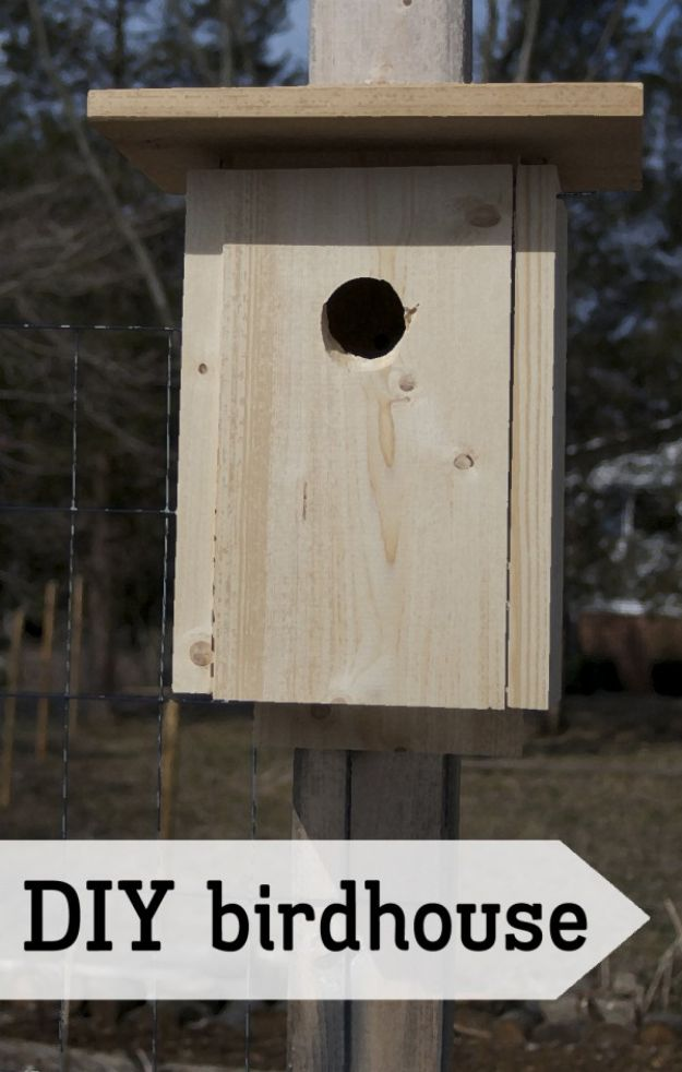 DIY Bird Houses - DIY Simple Birdhouse - Easy Bird House Ideas for Kids and Adult To Make - Free Plans and Tutorials for Wooden, Simple, Upcyle Designs, Recycle Plastic and Creative Ways To Make Rustic Outdoor Decor and a Home for the Birds - Fun Projects for Your Backyard This Summer