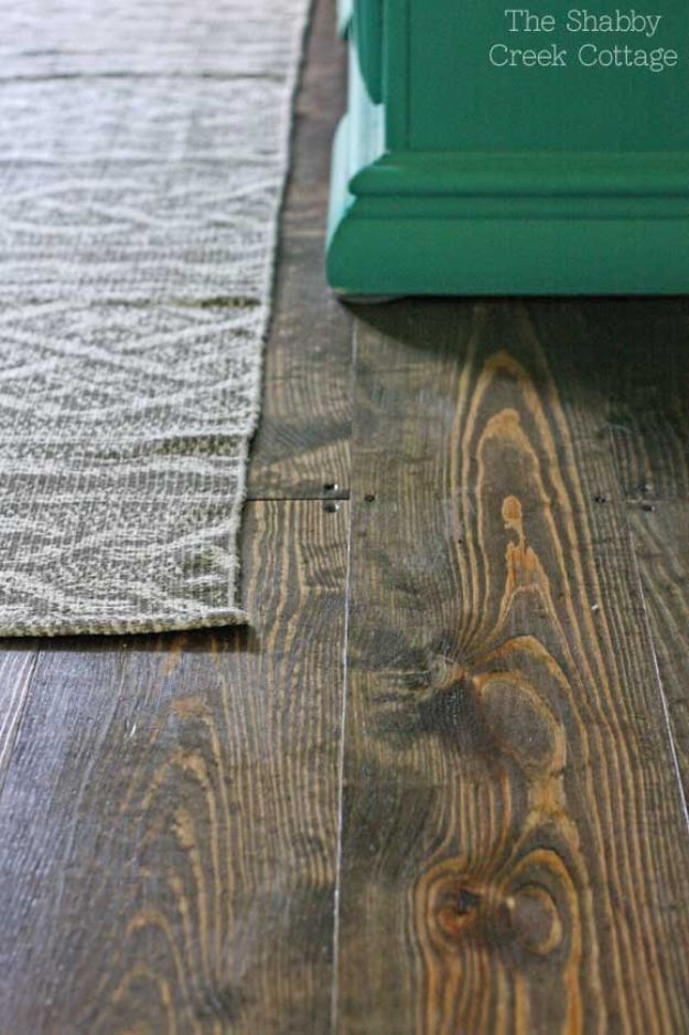 DIY Flooring Projects - DIY Wood Floors - Cheap Floor Ideas for Those On A Budget - Inexpensive Ways To Refinish Floors With Concrete, Laminate, Plywood, Peel and Stick Tile, Wood, Vinyl - Easy Project Plans and Unique Creative Tutorials for Cool Do It Yourself Home Decor #diy #flooring #homeimprovement