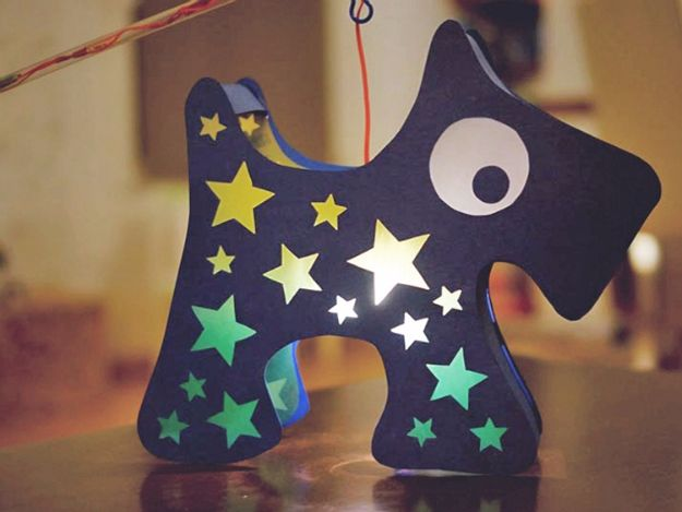 DIY Ideas With Dogs - Dog Lantern - Cute and Easy DIY Projects for Dog Lovers - Wall and Home Decor Projects, Things To Make and Sell on Etsy - Quick Gifts to Make for Friends Who Have Puppies and Doggies - Homemade No Sew Projects- Fun Jewelry, Cool Clothes and Accessories #dogs #crafts #diyideas