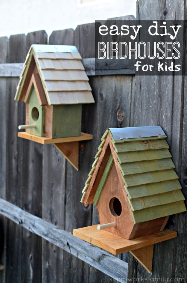 DIY Bird Houses - Easy DIY Birdhouses For Kids - Easy Bird House Ideas for Kids and Adult To Make - Free Plans and Tutorials for Wooden, Simple, Upcyle Designs, Recycle Plastic and Creative Ways To Make Rustic Outdoor Decor and a Home for the Birds - Fun Projects for Your Backyard This Summer