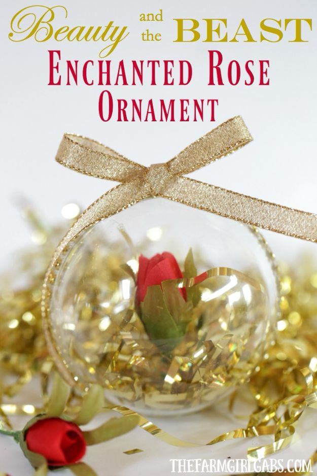 Rose Crafts - Enchanted Rose Ornament - Easy Craft Projects With Roses - Paper Flowers, Quilt Patterns, DIY Rose Art for Kids - Dried and Real Roses for Wall Art and Do It Yourself Home Decor - Mothers Day Gift Ideas - Fake Rose Arrangements That Look Amazing - Cute Centerrpieces and Crafty DIY Gifts With A Rose http://diyjoy.com/rose-crafts