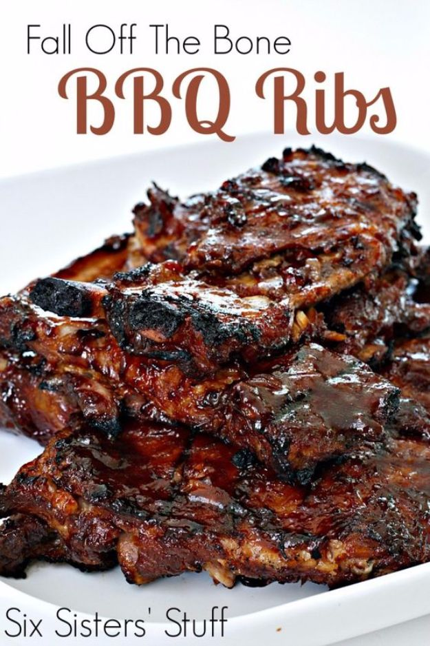 Best Barbecue Recipes - Fall Off The Bone BBQ Ribs - Easy BBQ Recipe Ideas for Lunch, Dinner and Quick Party Appetizers - Grilled and Smoked Foods, Chicken, Beef and Meat, Fish and Vegetable Ideas for Grilling - Sauces and Rubs, Seasonings and Favorite Bar BBQ Tips #bbq #bbqrecipes #grilling