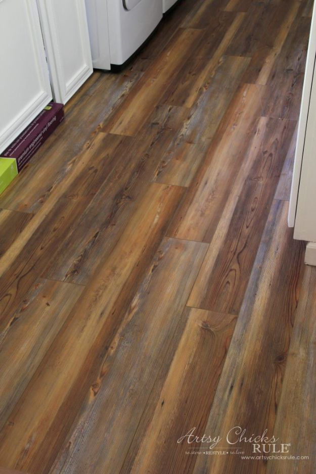 DIY Flooring Projects - Farmhouse Vinyl Plank Flooring - Cheap Floor Ideas for Those On A Budget - Inexpensive Ways To Refinish Floors With Concrete, Laminate, Plywood, Peel and Stick Tile, Wood, Vinyl - Easy Project Plans and Unique Creative Tutorials for Cool Do It Yourself Home Decor #diy #flooring #homeimprovement