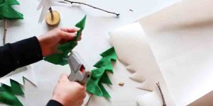 She Cuts Felt And Makes a Rustic Pottery Barn Inspired Item For Her Christmas Decor!