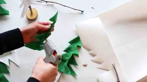 She Cuts Felt And Makes a Rustic Pottery Barn Inspired Item For Her Christmas Decor! | DIY Joy Projects and Crafts Ideas