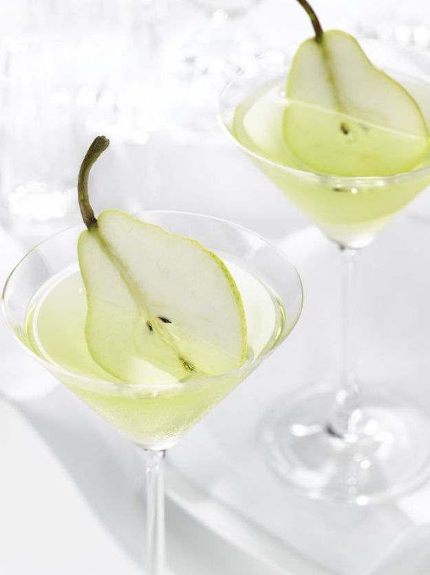 Best Dinner Party Ideas - French Pear Martini - Best Recipes for Foods to Serve, Casseroles, Finger Foods, Desserts and Appetizers- Place Settings and Cards, Centerpieces, Table Decor and Recipe Ideas for Supper Clubs and Dinner Parties http://diyjoy.com/best-dinner-party-ideas