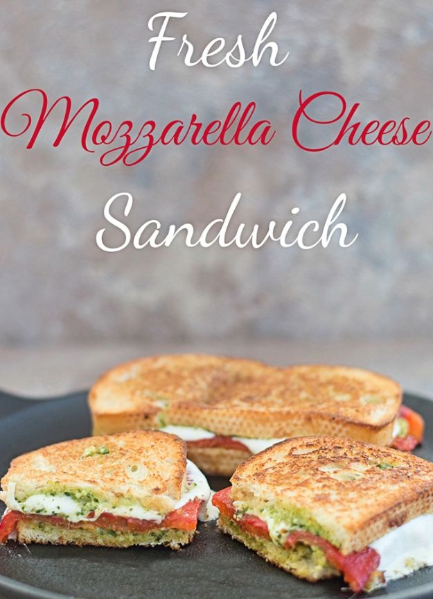 Best Brunch Recipes - Fresh Mozzarella Cheese Sandwich - Eggs, Pancakes, Waffles, Casseroles, Vegetable Dishes and Side, Potato Recipe Ideas for Brunches - Serve A Crowd and Family with the versions of Eggs Benedict, Mimosas, Muffins and Pastries, Desserts - Make Ahead , Slow Cooler and Healthy Casserole Recipes #brunch #breakfast #recipes