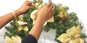 She Makes This Spectacular Wreath And It All Came From The Dollar Tree!