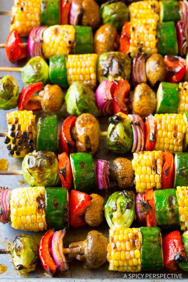 Best Barbecue Recipes - Grilled Fajita Vegetable Skewers - Easy BBQ Recipe Ideas for Lunch, Dinner and Quick Party Appetizers - Grilled and Smoked Foods, Chicken, Beef and Meat, Fish and Vegetable Ideas for Grilling - Sauces and Rubs, Seasonings and Favorite Bar BBQ Tips #bbq #bbqrecipes #grilling