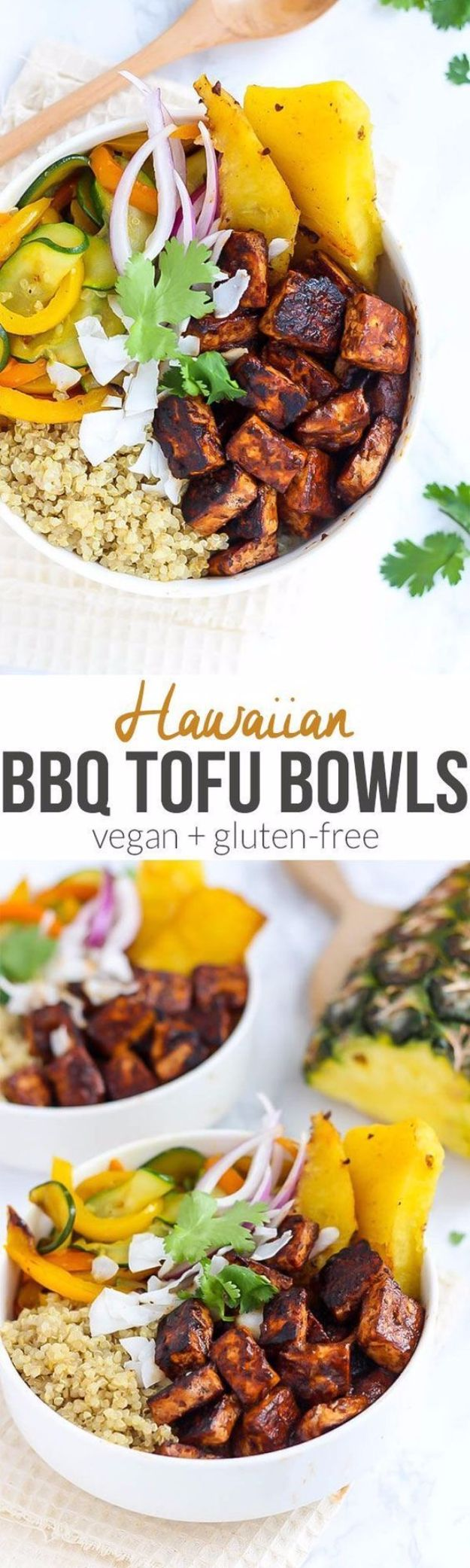 Best Barbecue Recipes - Hawaiian BBQ Tofu Bowls - Easy BBQ Recipe Ideas for Lunch, Dinner and Quick Party Appetizers - Grilled and Smoked Foods, Chicken, Beef and Meat, Fish and Vegetable Ideas for Grilling - Sauces and Rubs, Seasonings and Favorite Bar BBQ Tips #bbq #bbqrecipes #grilling