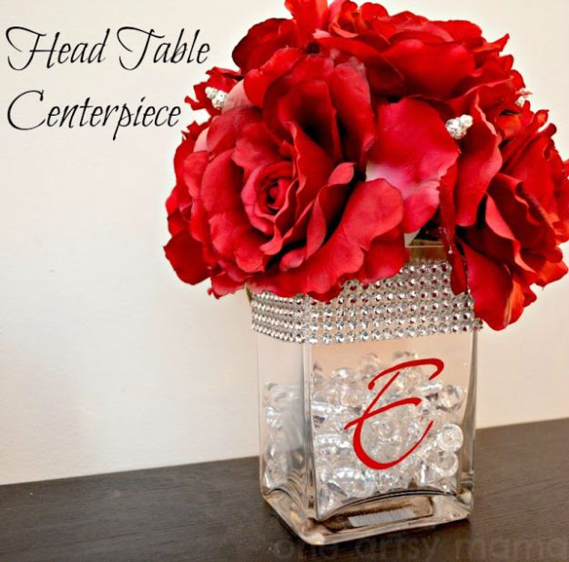 DIY Flowers for Weddings - Head Table Centerpiece - Centerpieces, Bouquets, Arrangements for Wedding Ceremony - Aisle Ideas, Rustic Bouquet Projects - Paper, Cheap, Fake Floral, Silk Flower Centerpiece To Make For Brides on A Budget - Decor for Spring, Summer, Winter and Fall http://diyjoy.com/diy-flowers-for-weddings