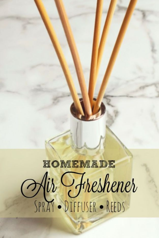 DIY Home Fragrance Ideas - Homemade Air Freshener - Easy Ways To Make your House and Home Smell Good - Essential Oils, Diffusers, DIY Lampe Berger Oil, Candles, Room Scents and Homemade Recipes for Odor Removal - Relaxing Lavender, Fresh Clean Smells, Lemon, Herb http://diyjoy.com/diy-home-fragrance-ideas