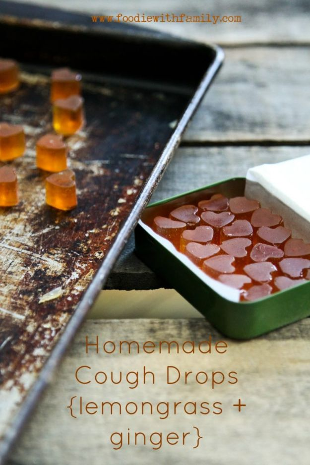 DIY Home Remedies - Homemade Cough Drops - Homemade Recipes and Ideas for Help Relieve Symptoms of Cold and Flu, Upset Stomach, Rash, Cough, Sore Throat, Headache and Illness - Skincare Products, Balms, Lotions and Teas - Homeopathic Solutions and Remedy for Common Sickness http://diyjoy.com/diy-home-remedies