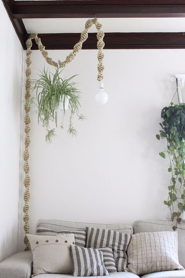 Macrame Crafts - Macrame Lamp - DIY Ideas and Easy Macrame Projects for Home Decor, Gifts and Wall Art - Cool Bracelets, Plant Holders, Beautiful Dream Catchers, Things To Make and Sell on Etsy, How To Make Knots for Your Macrame Craft Projects, Fun Ideas Even Kids and Teens Can Make #macrame #crafts #diyideas