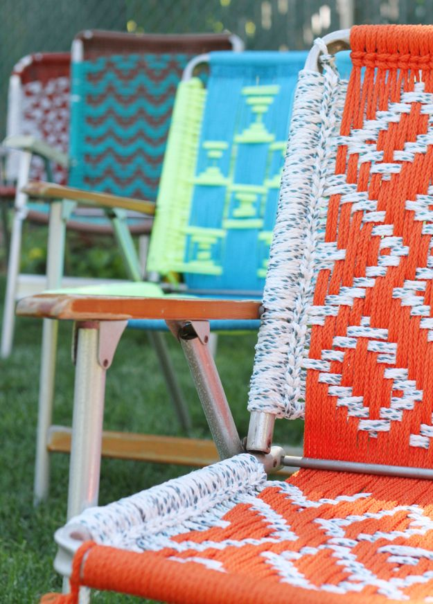 Macrame Crafts - Macrame Lawn Chair - DIY Ideas and Easy Macrame Projects for Home Decor, Gifts and Wall Art - Cool Bracelets, Plant Holders, Beautiful Dream Catchers, Things To Make and Sell on Etsy, How To Make Knots for Your Macrame Craft Projects, Fun Ideas Even Kids and Teens Can Make #macrame #crafts #diyideas