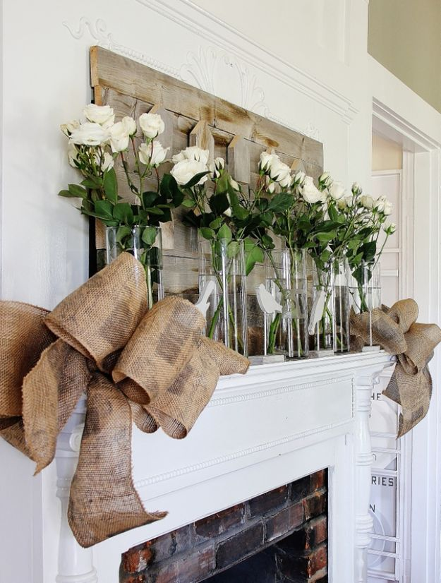 DIY Burlap Ideas - Make A Burlap Bow - Burlap Furniture, Home Decor and Crafts - Banners and Buntings, Wall Art, Ottoman from Coffee Sacks, Wreath, Centerpieces and Table Runner - Kitchen, Bedroom, Living Room, Bathroom Ideas - Shabby Chic Craft Projects and DIY Wedding Decor http://diyjoy.com/diy-burlap-decor-ideas