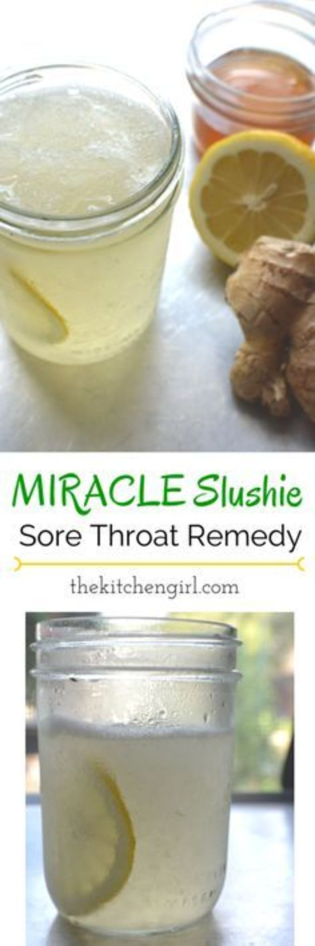 DIY Home Remedies - Miracle Slushie Sore Throat Relief - Homemade Recipes and Ideas for Help Relieve Symptoms of Cold and Flu, Upset Stomach, Rash, Cough, Sore Throat, Headache and Illness - Skincare Products, Balms, Lotions and Teas