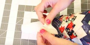 She Attaches Fabric Triangles To A Styrofoam Cone And Makes An Amazing Decoration!