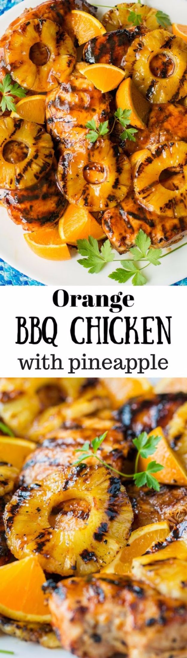 Best Barbecue Recipes - Orange Barbecue Grilled Chicken - Easy BBQ Recipe Ideas for Lunch, Dinner and Quick Party Appetizers - Grilled and Smoked Foods, Chicken, Beef and Meat, Fish and Vegetable Ideas for Grilling - Sauces and Rubs, Seasonings and Favorite Bar BBQ Tips #bbq #bbqrecipes #grilling