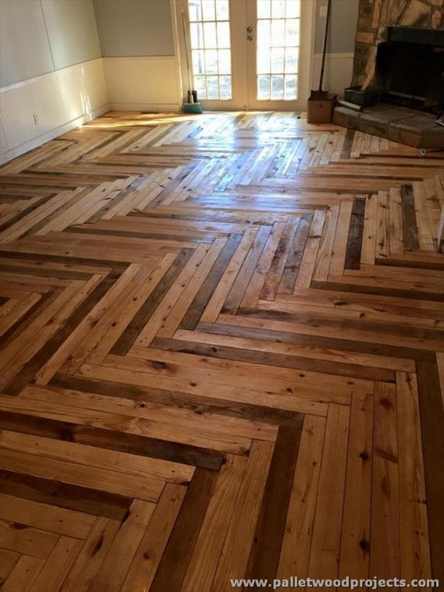 DIY Flooring Projects - Pallet Wood Flooring - Cheap Floor Ideas for Those On A Budget - Inexpensive Ways To Refinish Floors With Concrete, Laminate, Plywood, Peel and Stick Tile, Wood, Vinyl - Easy Project Plans and Unique Creative Tutorials for Cool Do It Yourself Home Decor #diy #flooring #homeimprovement