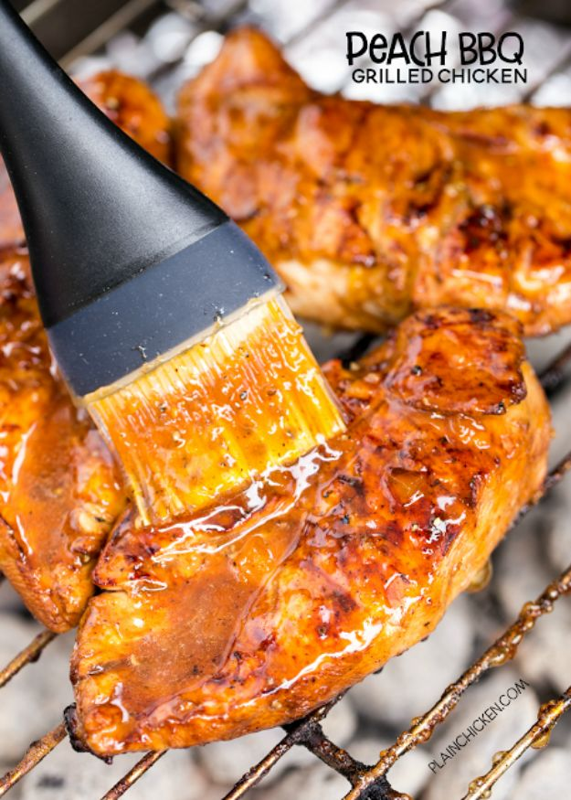 Best Barbecue Recipes - Peach BBQ Grilled Chicken - Easy BBQ Recipe Ideas for Lunch, Dinner and Quick Party Appetizers - Grilled and Smoked Foods, Chicken, Beef and Meat, Fish and Vegetable Ideas for Grilling - Sauces and Rubs, Seasonings and Favorite Bar BBQ Tips #bbq #bbqrecipes #grilling