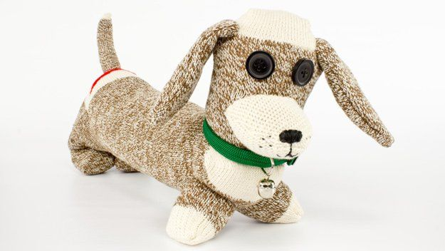 DIY Ideas With Dogs - Pincushion Sock Dog - Cute and Easy DIY Projects for Dog Lovers - Wall and Home Decor Projects, Things To Make and Sell on Etsy - Quick Gifts to Make for Friends Who Have Puppies and Doggies - Homemade No Sew Projects- Fun Jewelry, Cool Clothes and Accessories #dogs #crafts #diyideas