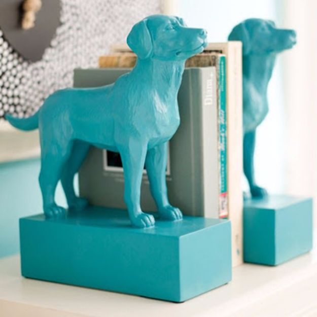 DIY Ideas With Dogs - Pottery Barn Inspired DIY Dog Bookends - Cute and Easy DIY Projects for Dog Lovers - Wall and Home Decor Projects, Things To Make and Sell on Etsy - Quick Gifts to Make for Friends Who Have Puppies and Doggies - Homemade No Sew Projects- Fun Jewelry, Cool Clothes and Accessories #dogs #crafts #diyideas