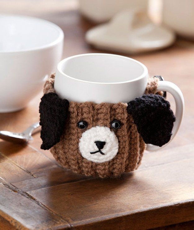 DIY Ideas With Dogs - Puppy Mug Hug - Cute and Easy DIY Projects for Dog Lovers - Wall and Home Decor Projects, Things To Make and Sell on Etsy - Quick Gifts to Make for Friends Who Have Puppies and Doggies - Homemade No Sew Projects- Fun Jewelry, Cool Clothes and Accessories #dogs #crafts #diyideas