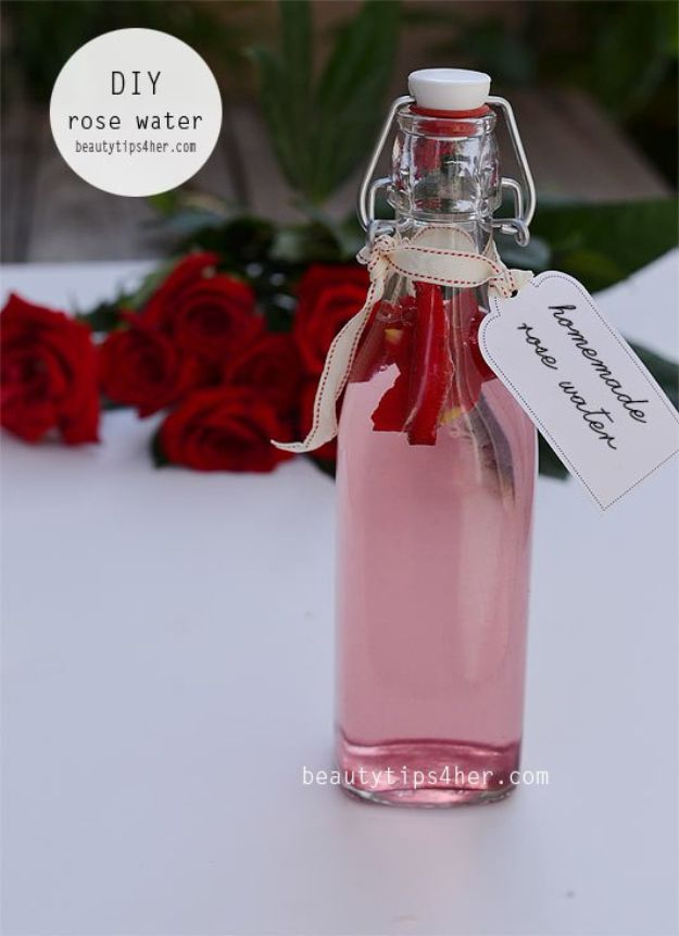 Rose Crafts - Rose Water Toner - Easy Craft Projects With Roses - Paper Flowers, Quilt Patterns, DIY Rose Art for Kids - Dried and Real Roses for Wall Art and Do It Yourself Home Decor - Mothers Day Gift Ideas - Fake Rose Arrangements That Look Amazing - Cute Centerrpieces and Crafty DIY Gifts With A Rose http://diyjoy.com/rose-crafts