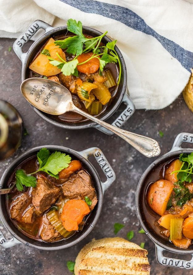 Best Brunch Recipes - Slow Cooker Guinness Beef Stew - Eggs, Pancakes, Waffles, Casseroles, Vegetable Dishes and Side, Potato Recipe Ideas for Brunches - Serve A Crowd and Family with the versions of Eggs Benedict, Mimosas, Muffins and Pastries, Desserts - Make Ahead , Slow Cooler and Healthy Casserole Recipes http://diyjoy.com/best-brunch-recipes