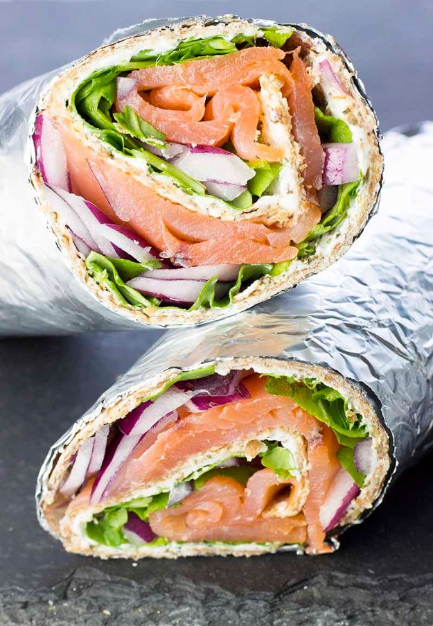 Best Brunch Recipes - Smoked Salmon and Cream Cheese Wraps - Eggs, Pancakes, Waffles, Casseroles, Vegetable Dishes and Side, Potato Recipe Ideas for Brunches - Serve A Crowd and Family with the versions of Eggs Benedict, Mimosas, Muffins and Pastries, Desserts - Make Ahead , Slow Cooler and Healthy Casserole Recipes #brunch #breakfast #recipes