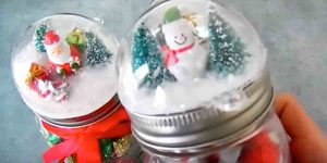 Watch How She Puts A Different Spin On Snow Globes For Some Clever Christmas Gifts!