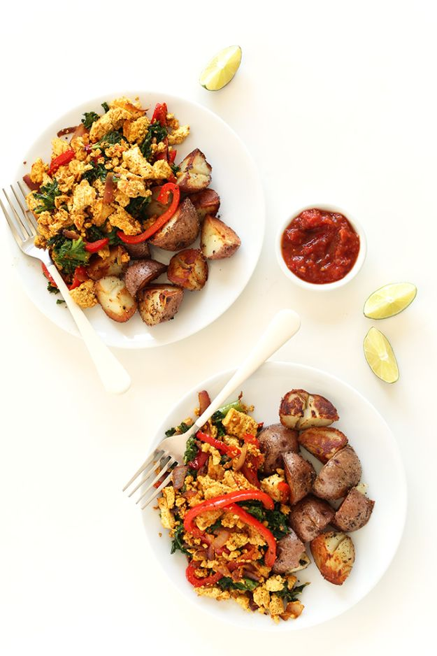 Best Brunch Recipes - Southwest Tofu Scramble - Eggs, Pancakes, Waffles, Casseroles, Vegetable Dishes and Side, Potato Recipe Ideas for Brunches - Serve A Crowd and Family with the versions of Eggs Benedict, Mimosas, Muffins and Pastries, Desserts - Make Ahead , Slow Cooler and Healthy Casserole Recipes #brunch #breakfast #recipes