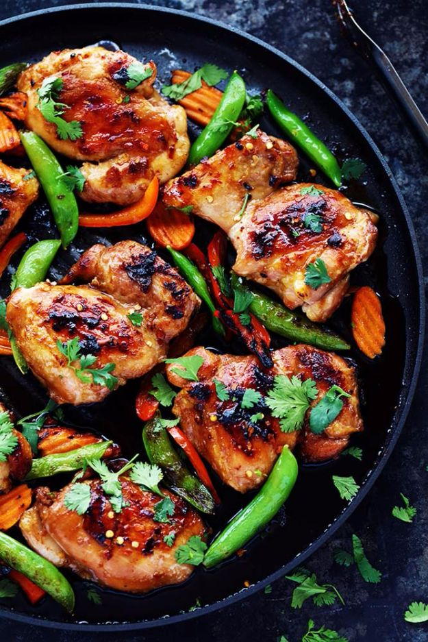 Best Barbecue Recipes - Thai Barbecue Chicken - Easy BBQ Recipe Ideas for Lunch, Dinner and Quick Party Appetizers - Grilled and Smoked Foods, Chicken, Beef and Meat, Fish and Vegetable Ideas for Grilling - Sauces and Rubs, Seasonings and Favorite Bar BBQ Tips http://diyjoy.com/best-bbq-recipes