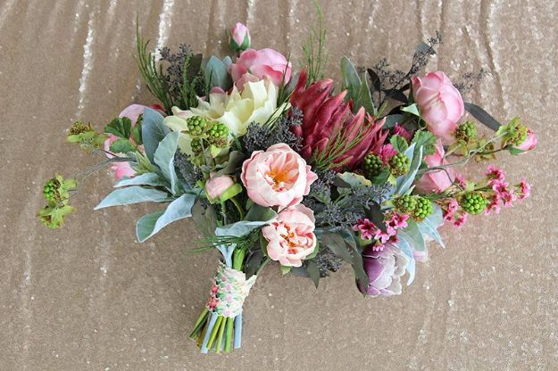 DIY Flowers for Weddings - Vintage Glam Bouquet - Centerpieces, Bouquets, Arrangements for Wedding Ceremony - Aisle Ideas, Rustic Bouquet Projects - Paper, Cheap, Fake Floral, Silk Flower Centerpiece To Make For Brides on A Budget - Decor for Spring, Summer, Winter and Fall http://diyjoy.com/diy-flowers-for-weddings