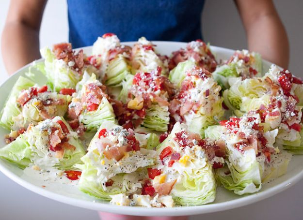 Best Dinner Party Ideas - Wedge Salad-Zupas - Best Recipes for Foods to Serve, Casseroles, Finger Foods, Desserts and Appetizers- Place Settings and Cards, Centerpieces, Table Decor and Recipe Ideas for Supper Clubs and Dinner Parties http://diyjoy.com/best-dinner-party-ideas