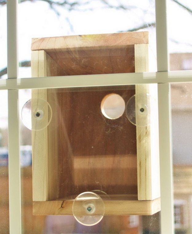 DIY Bird Houses - Window Birdhouse - Easy Bird House Ideas for Kids and Adult To Make - Free Plans and Tutorials for Wooden, Simple, Upcyle Designs, Recycle Plastic and Creative Ways To Make Rustic Outdoor Decor and a Home for the Birds - Fun Projects for Your Backyard This Summer
