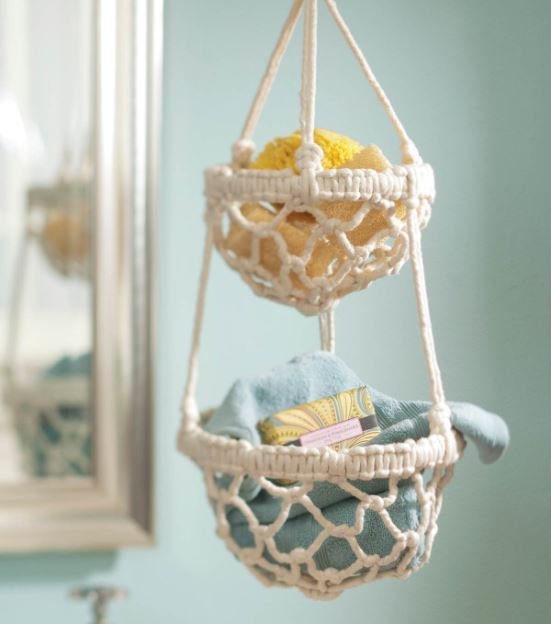 Macrame Crafts - Macrame Hanging Basket - DIY Ideas and Easy Macrame Projects for Home Decor, Gifts and Wall Art - Cool Bracelets, Plant Holders, Beautiful Dream Catchers, Things To Make and Sell on Etsy, How To Make Knots for Your Macrame Craft Projects, Fun Ideas Even Kids and Teens Can Make #macrame #crafts #diyideas