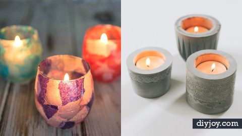 33 DIY Candle Holders To Light Up Your World | DIY Joy Projects and Crafts Ideas