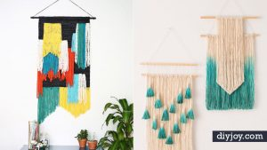 DIY Wall Hangings - Easy Yarn Projects , Macrame Ideas , Fabric Tapestry and Paper Arts