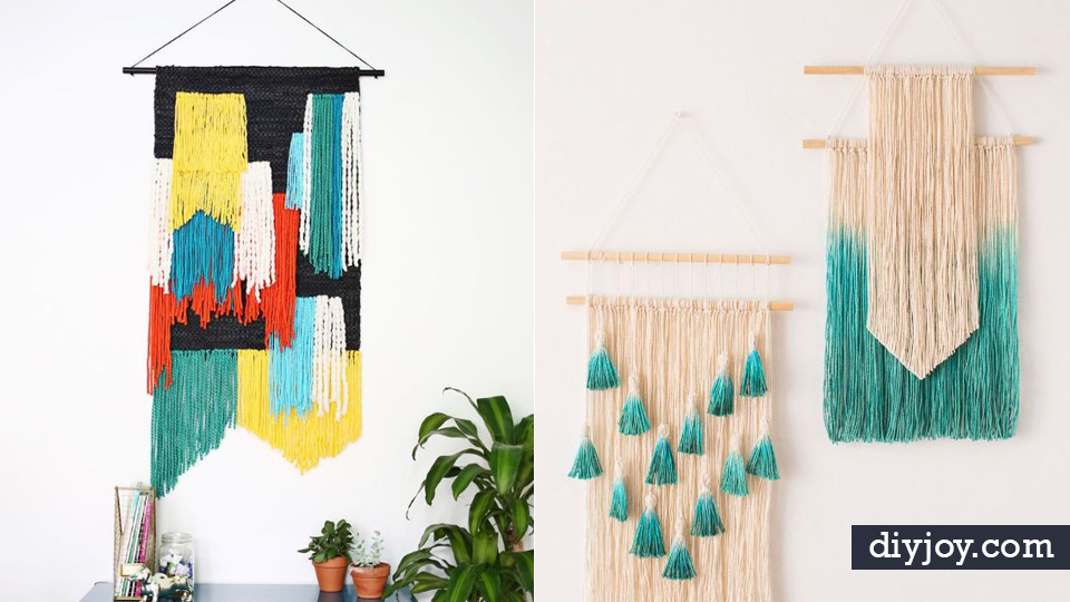 DIY Wall Hangings   Easy Yarn Projects , Macrame Ideas , Fabric Tapestry  And Paper Arts