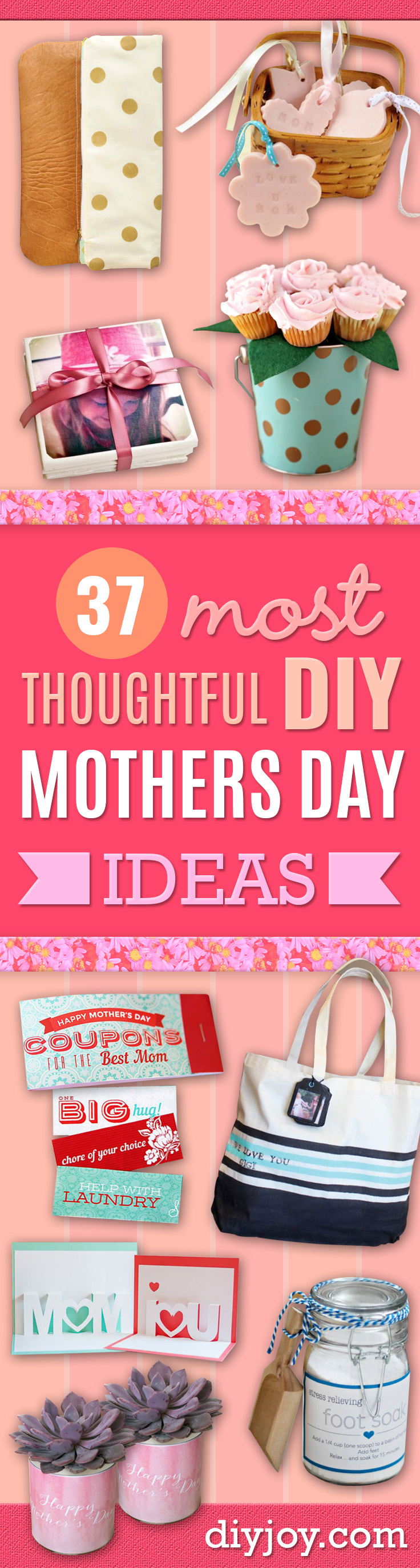 Best Mothers Day Ideas - Easy and Cute DIY Projects to Make for Mom - Cool Gifts and Homemade Cards, Gift in A Jar Ideas - Cheap Things You Can Make for Your Mother http://diyjoy.com/diy-mothers-day-ideas