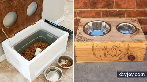Your Dog Needs One of These 38 DIY Pet Bowls and Feeding Stations | DIY Joy Projects and Crafts Ideas