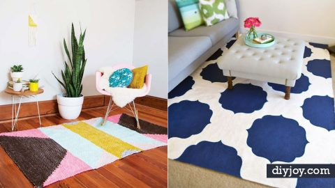 40 DIY Rugs For Your Living Room, Bedroom, Kitchen and Bath | DIY Joy Projects and Crafts Ideas