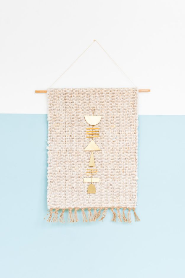 DIY Wall Hangings - 5-Minute Wall Hanging - Easy Yarn Projects , Macrame Ideas , Fabric Tapestry and Paper Arts and Crafts , Planter and Wood Board Ideas for Bedroom and Living Room Decor - Cute Mobile and Wall Hanging for Nursery and Kids Rooms #wallart #diy #roomdecor