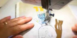 She Takes Her Child's Art And Transfers It To Fabric, Then Watch What She Does Next!