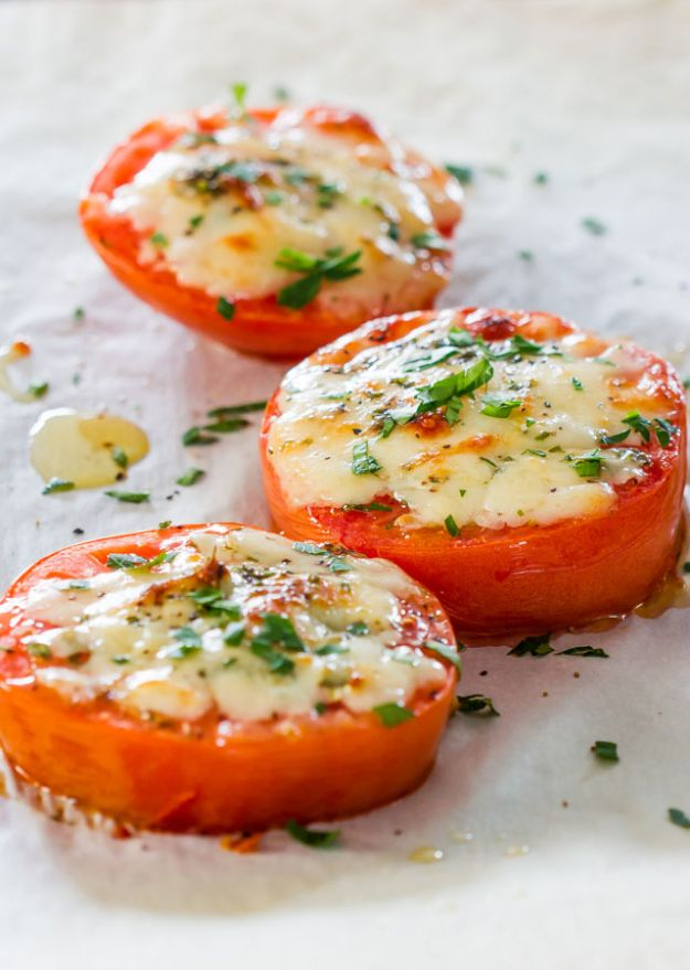 Best Lowfat Recipes - Baked Parmesan Tomatoes - Easy Low fat and Healthy Recipe Ideas For Eating Well and Dieting, Weight Loss - Quick Breakfasts, Lunch, Dinner, Snack and Desserts - Foods with Chicken, Vegetables, Salad, Low Carb, Beef, Egg, Gluten Free http://diyjoy.com/best-lowfat-recipes